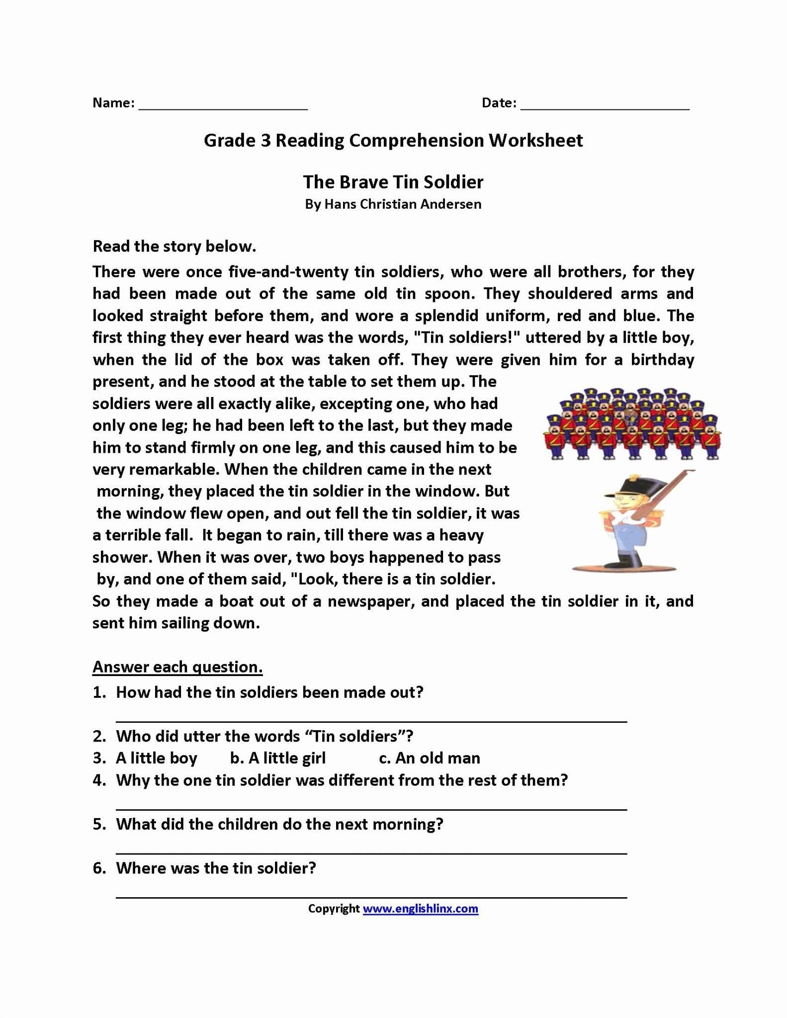 Free 7th Grade Reading Worksheets Bible Prehension Worksheets