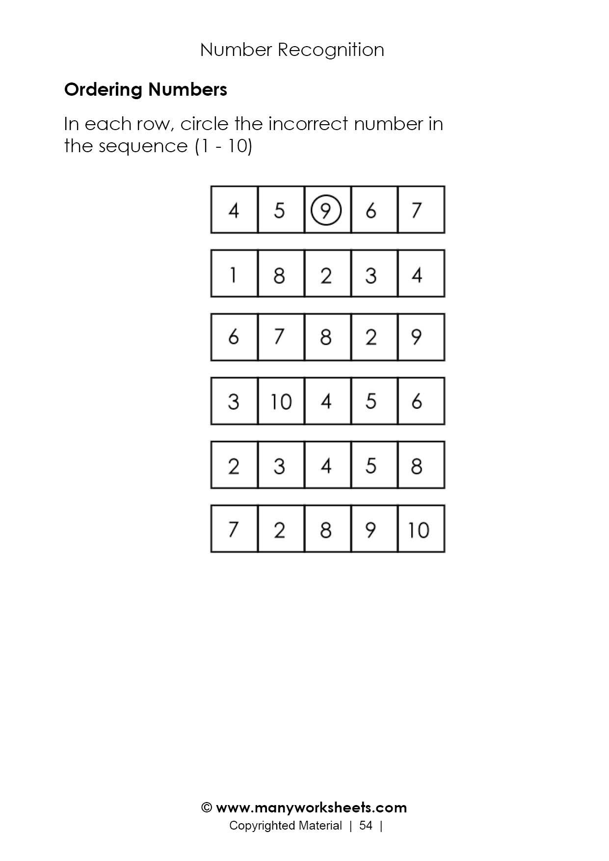 Free Capacity Worksheets ordering Numbers to In order Worksheet Worksheets Go Math