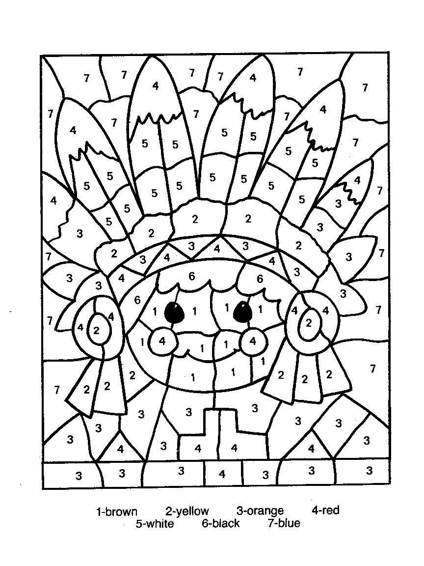 Free Color by Numbers Worksheets Color by Numbers Page Print Your Free Color by Numbers