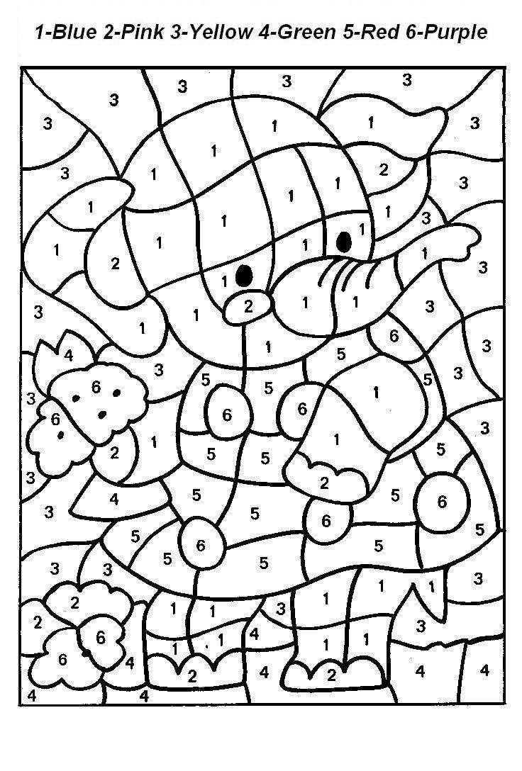 Free Color by Numbers Worksheets Number Coloring Pages Number Coloring Pages 1 10 Worksheets