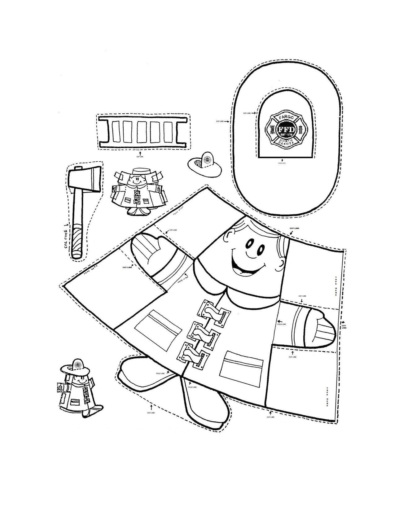 Free Fire Safety Worksheets Fire Safety Fireman Crafts Munity Helper Firefighter