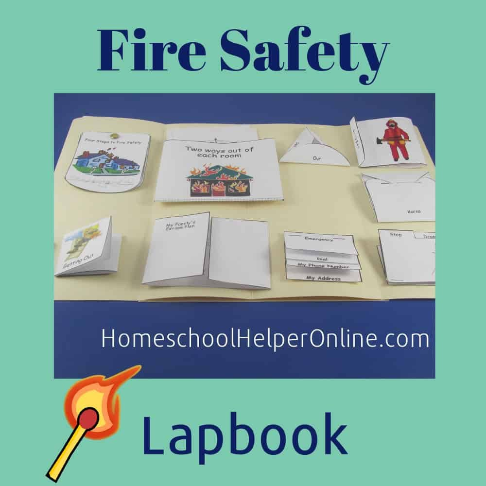 Free Fire Safety Worksheets Fire Safety Lapbook Homeschool Helper Line