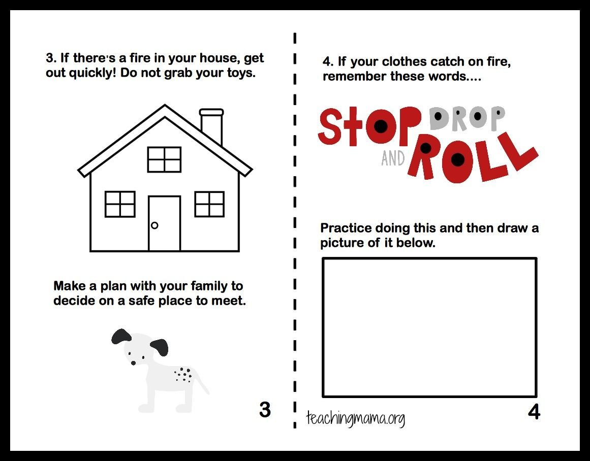Free Fire Safety Worksheets Fire Safety Week