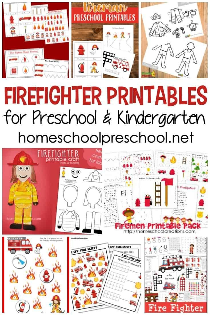 Free Fire Safety Worksheets Free Firefighter Printables for Preschool and Kindergarten
