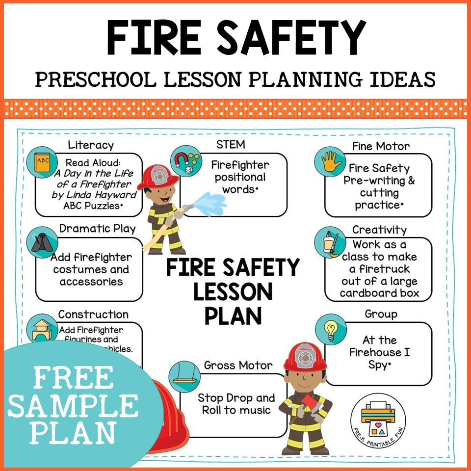 Free Fire Safety Worksheets Preschool Fire Safety Lesson Planning Ideas Pre K