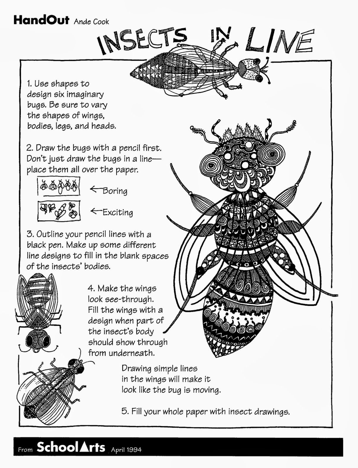 Free Insect Worksheets Free Handout and Lesson for Insects In Line with