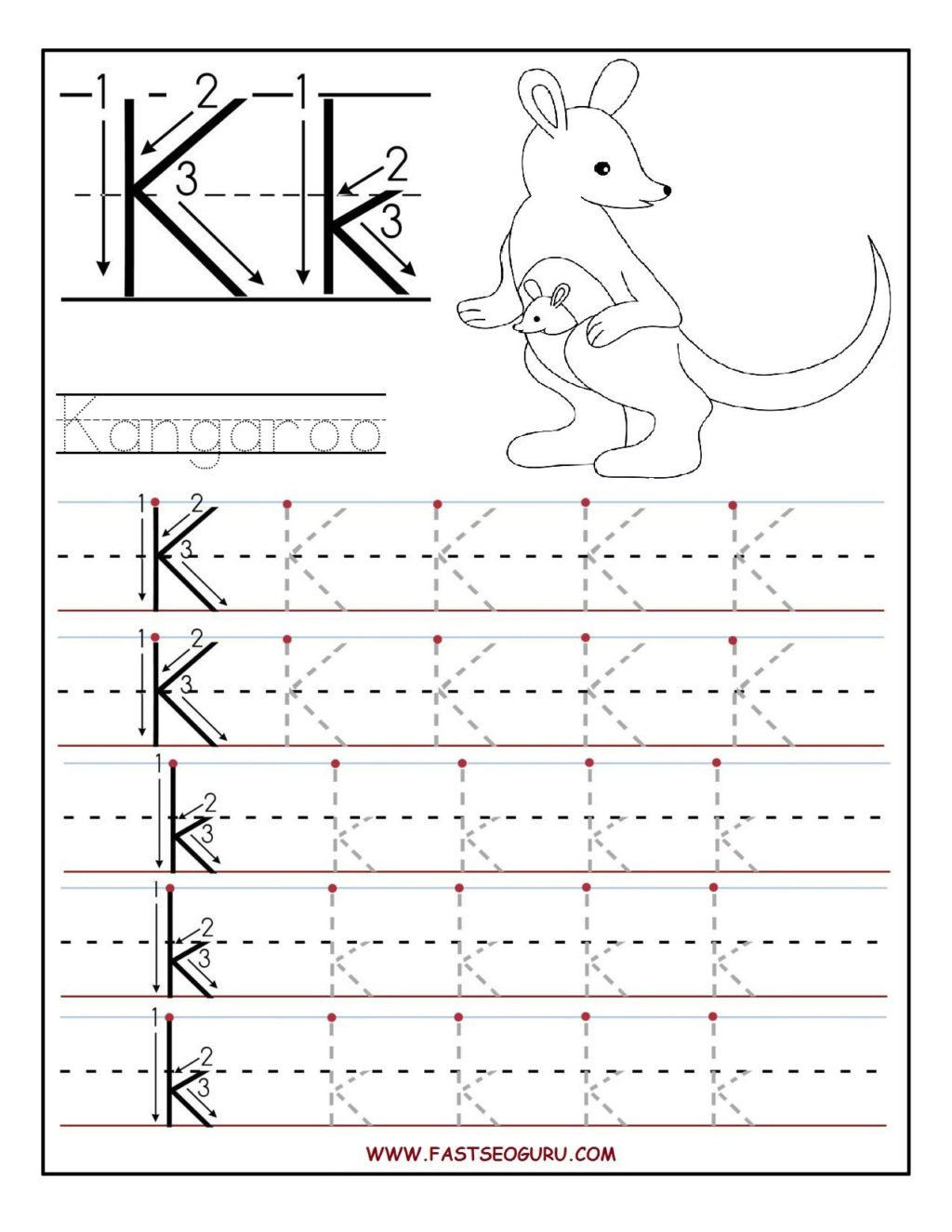 Free Letter Tracing Worksheets Pdf Worksheet Preschool Printables Free Printable Letter