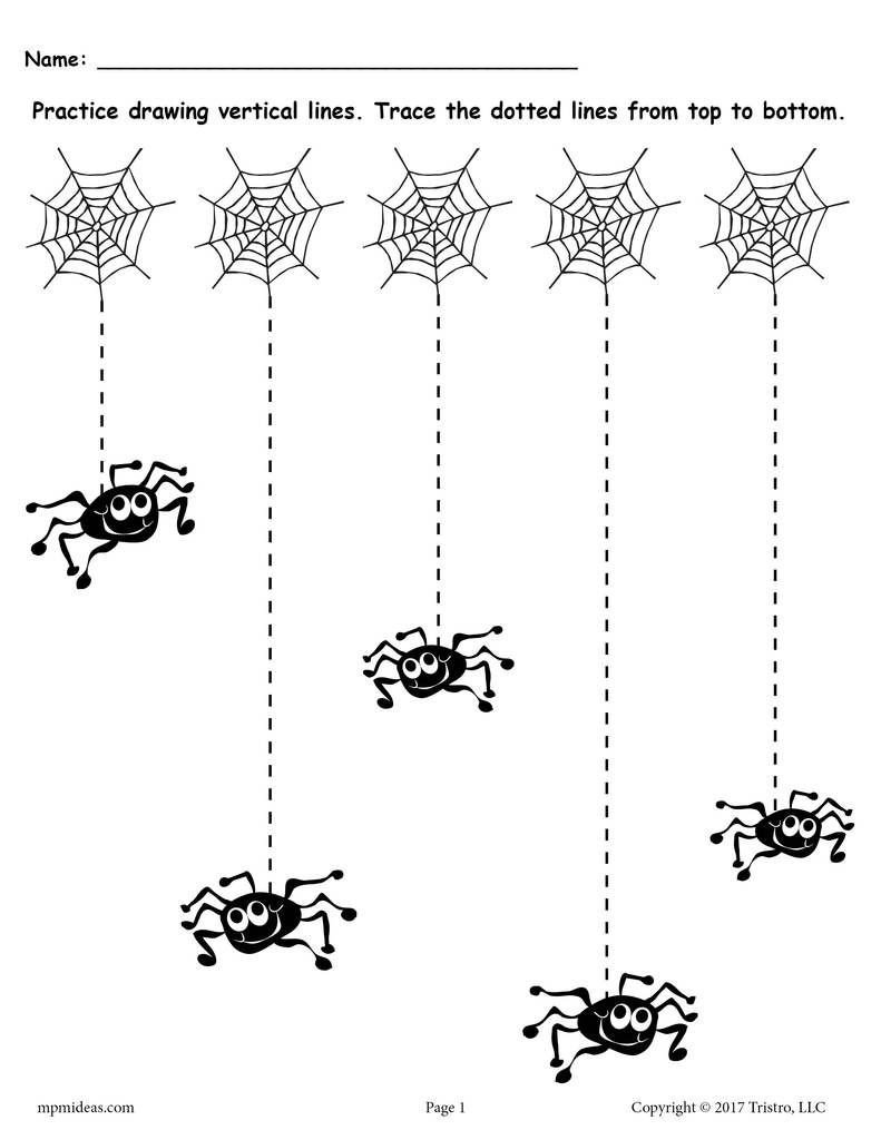 free printable halloween line tracing worksheets toddler