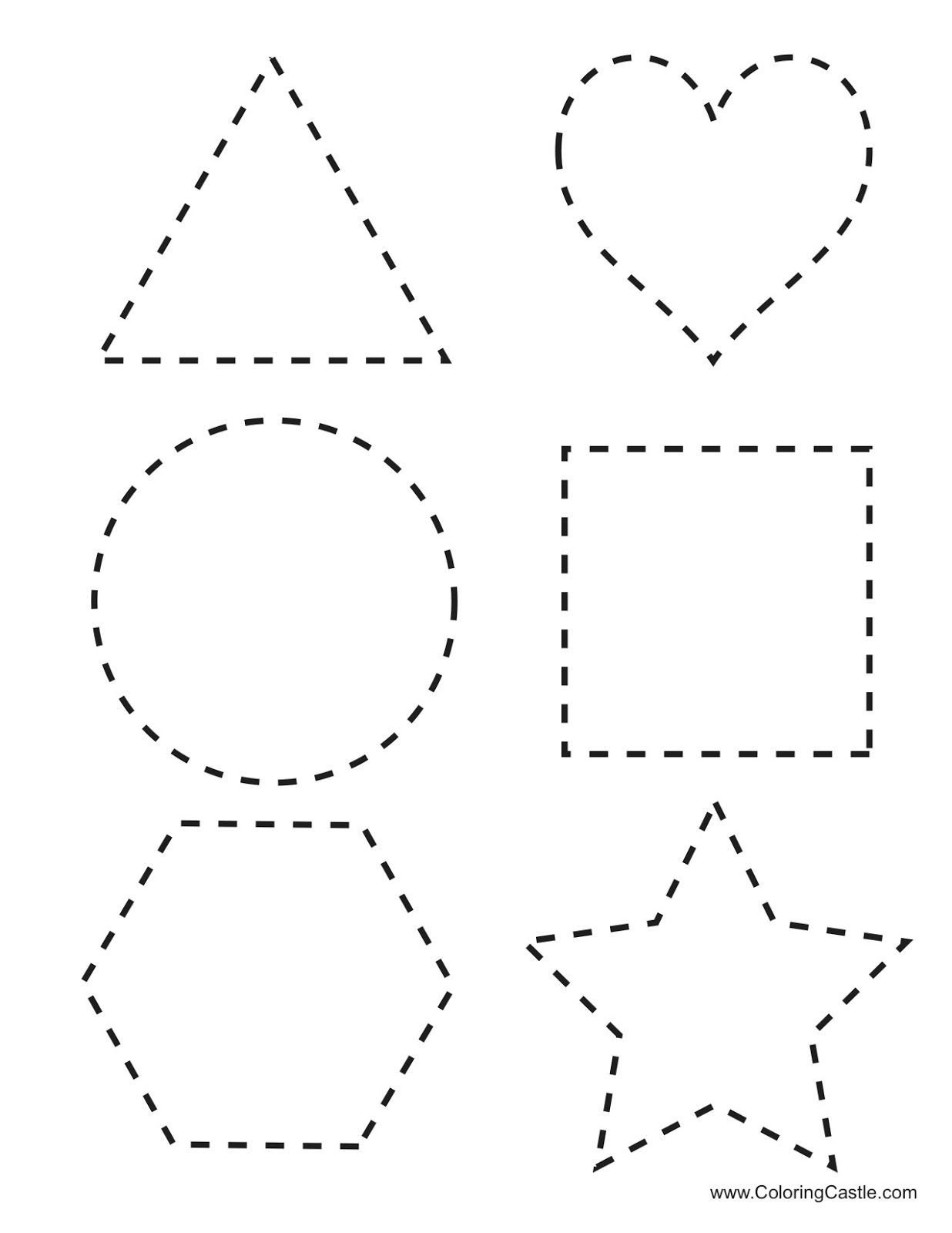 Free Printable Cutting Worksheets Tracing Shapes Printables