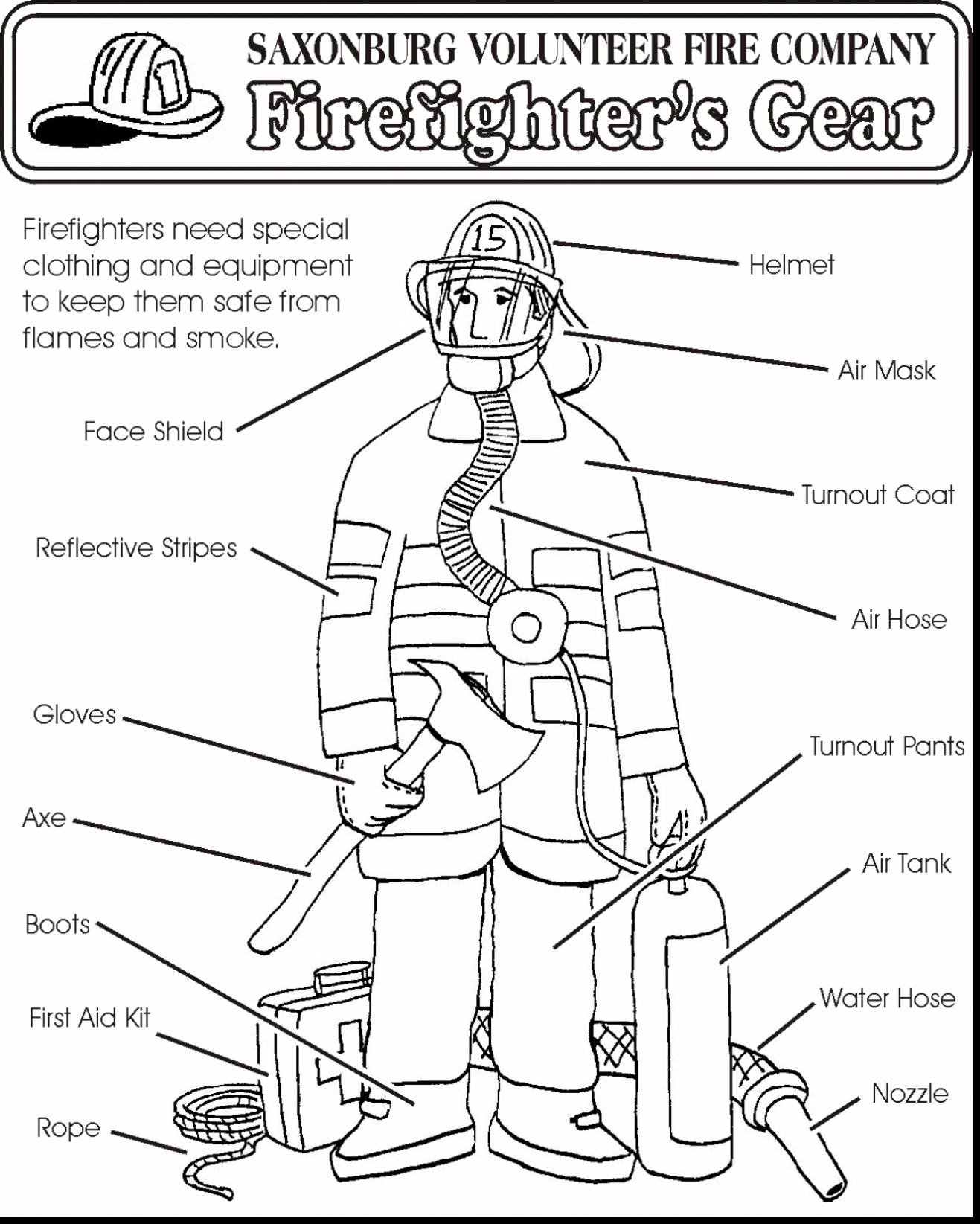 Free Printable Fire Safety Worksheets Fire Safety Coloring at Getdrawings Free Munity Helper