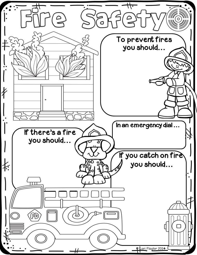 Free Printable Fire Safety Worksheets Fire Safety