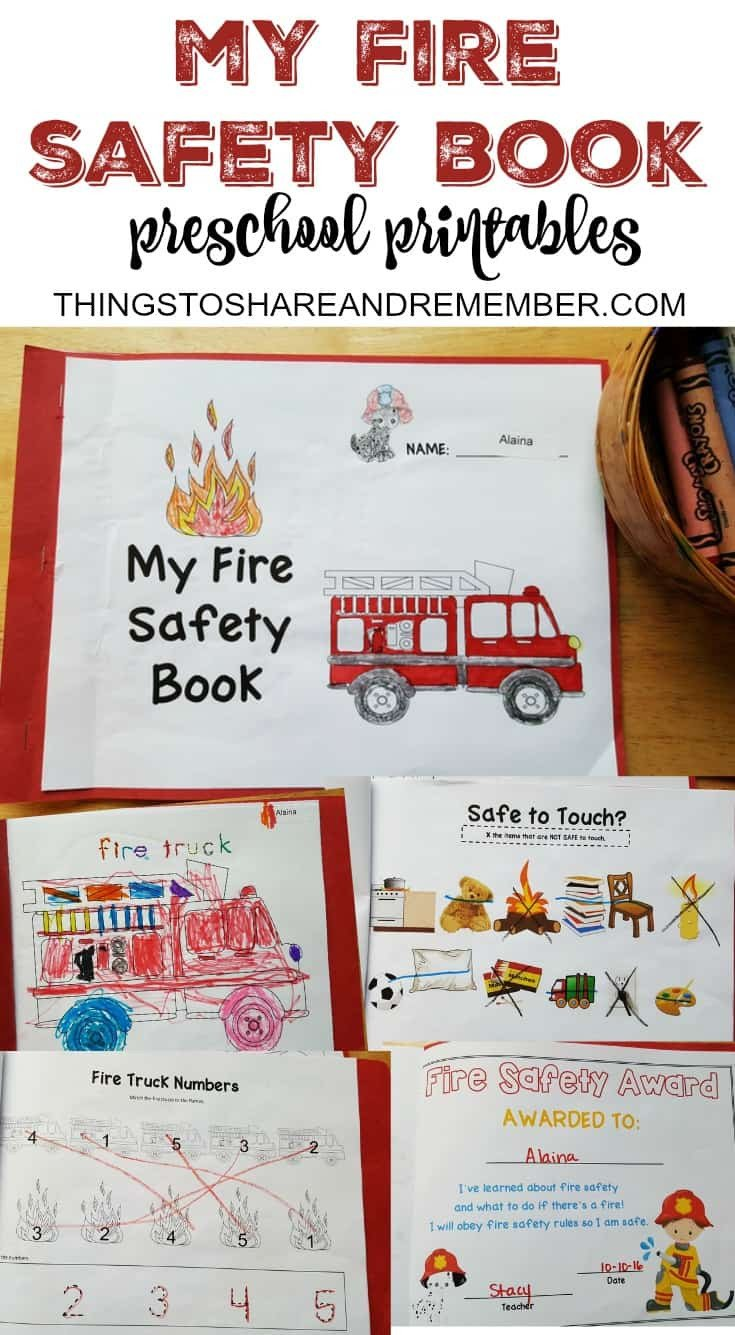 My Fire Safety Book Preschool Printables