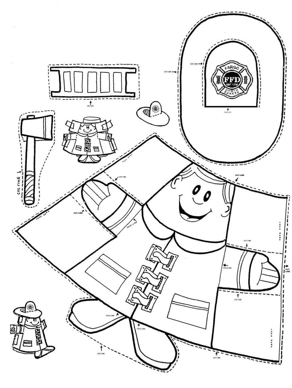 coloring pages fire safety coloringges free post office preschool printable worksheets them sketch sheets for preschoolers 1024x1360