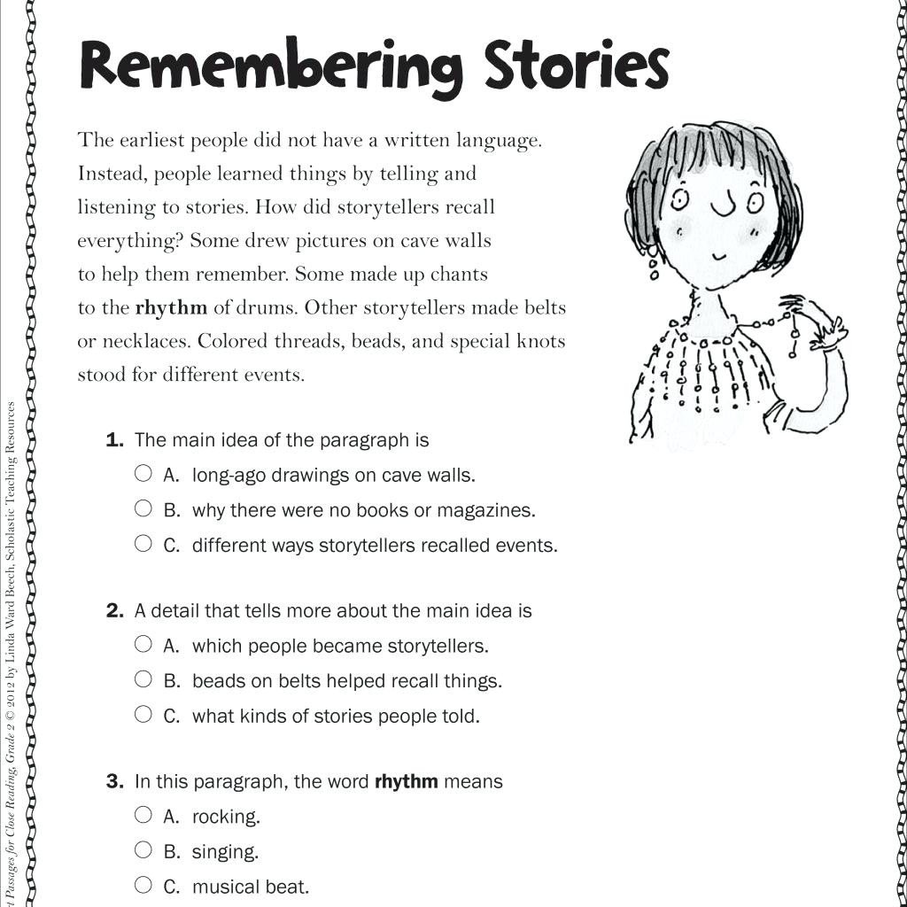 Free Printable Main Idea Worksheets Math Worksheet Free Reading Worksheets for 3rd Grade Image