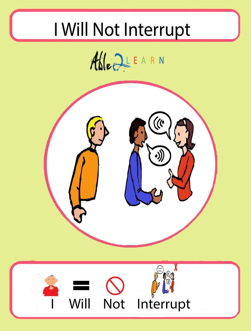 social story free social stories free social story I will not interrupt social story school skills autism behaviour free aba resources free autism resources 1