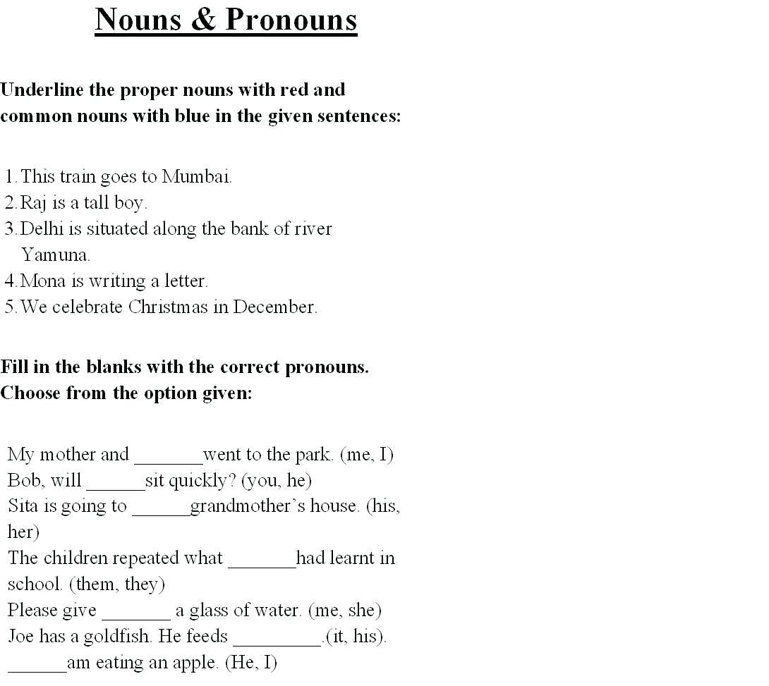 nouns and pronouns worksheets nouns and pronouns worksheet nouns and pronouns quiz doc