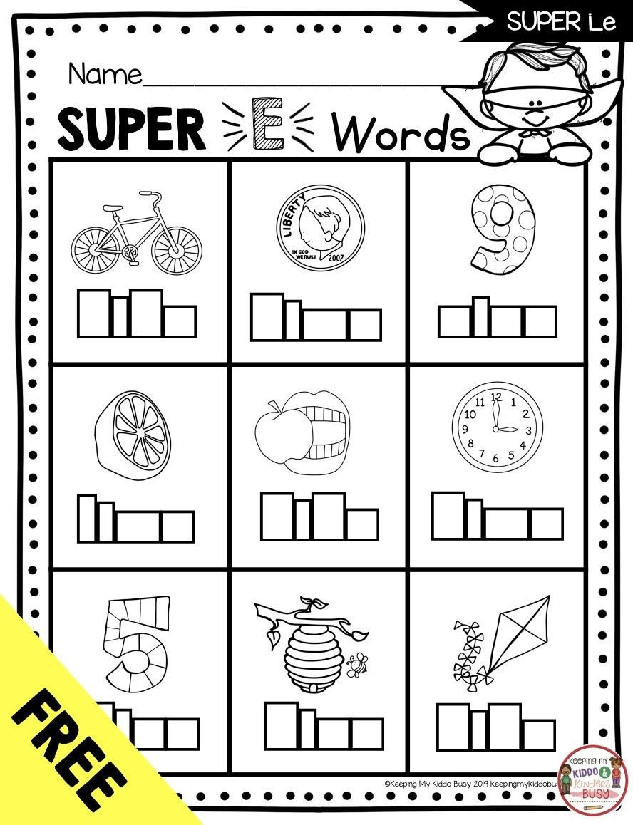 Free Silent E Worksheets 3 Worksheet Word Detective Pets Long Vowels Super E Phonics
