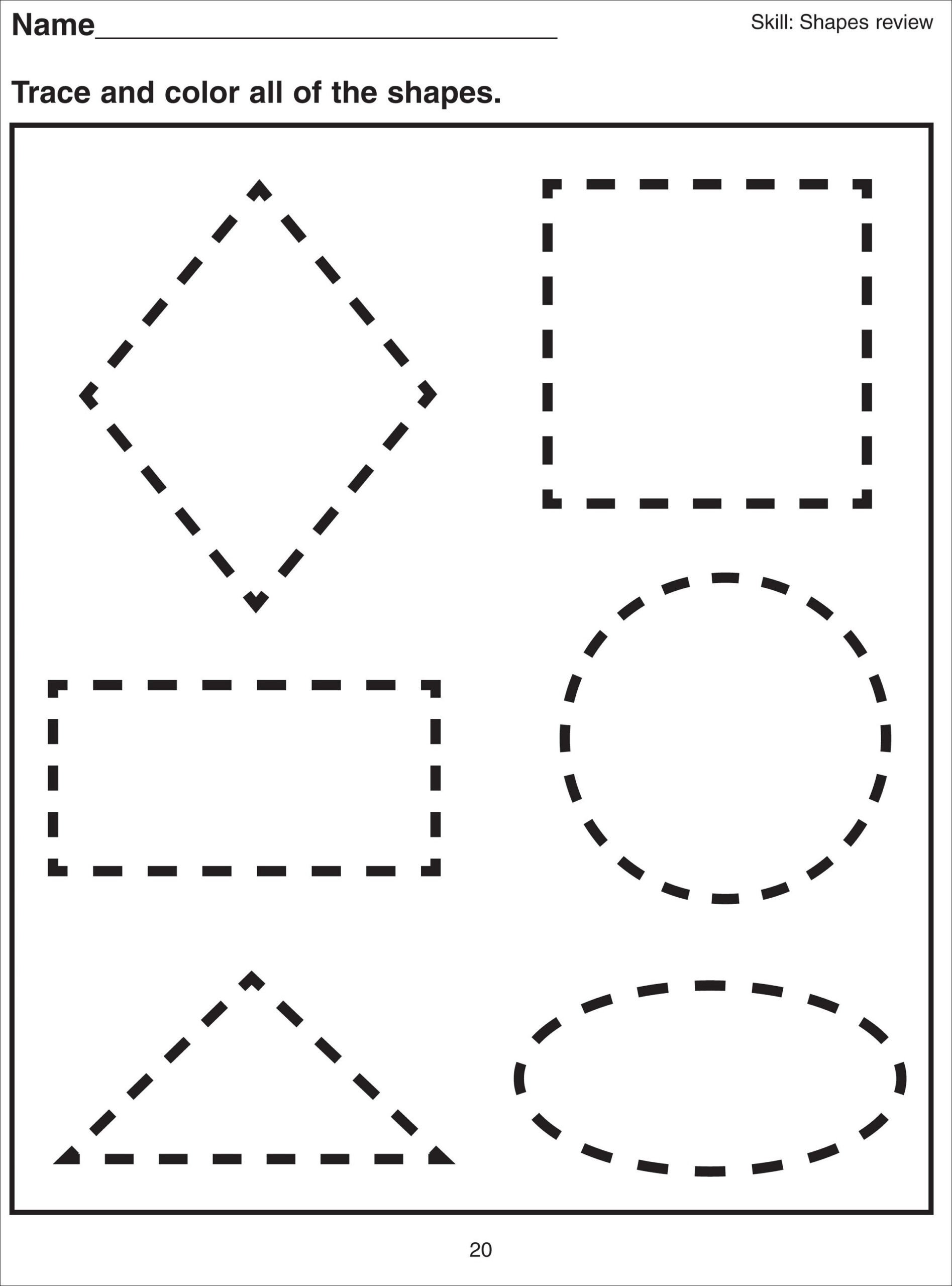 Geometric Shape Patterns Worksheet Shape Tracing Worksheets for Print Free Multiplication Table