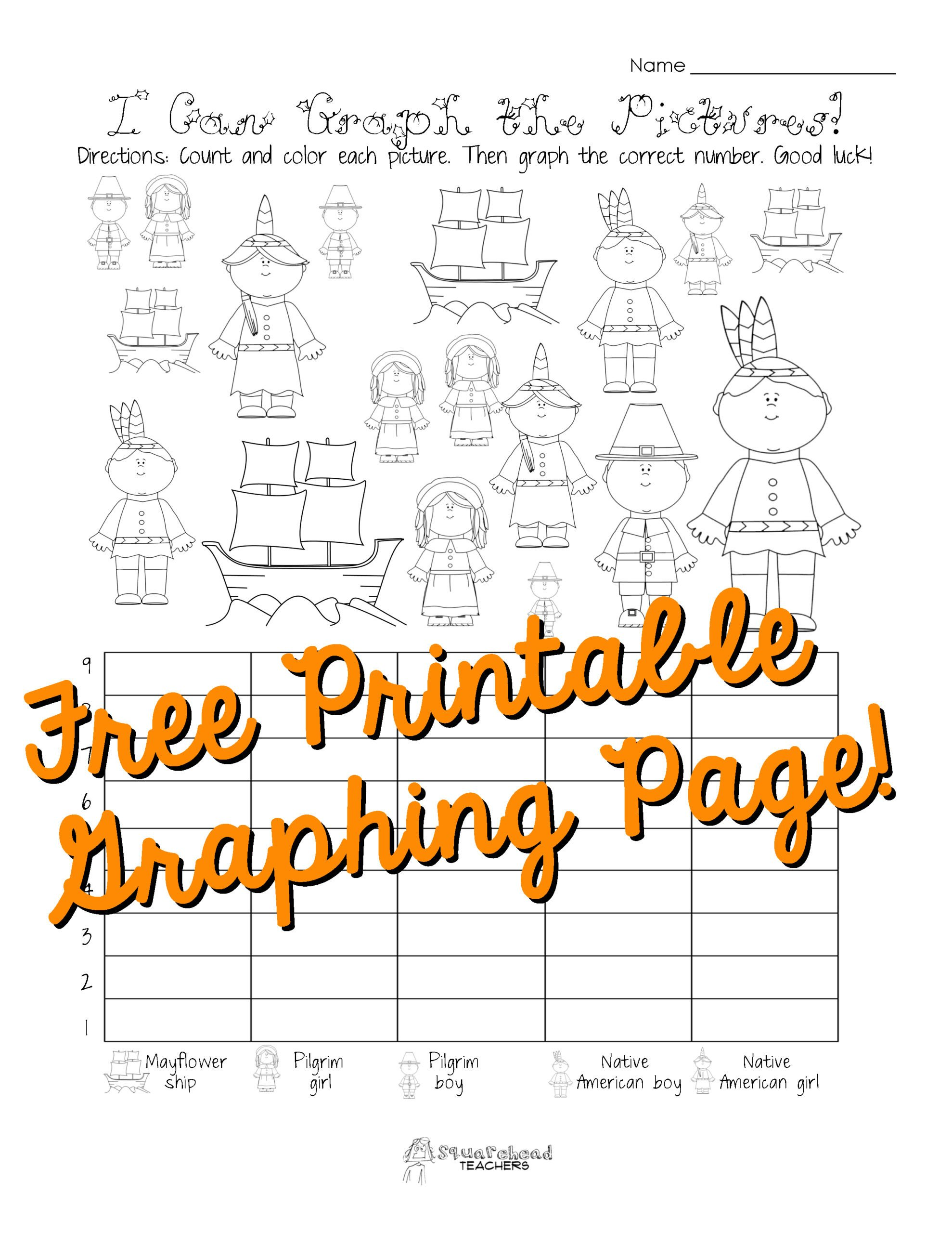Graphing Worksheets for First Grade Math Worksheet Matheet Free Thanksgiving Graphing