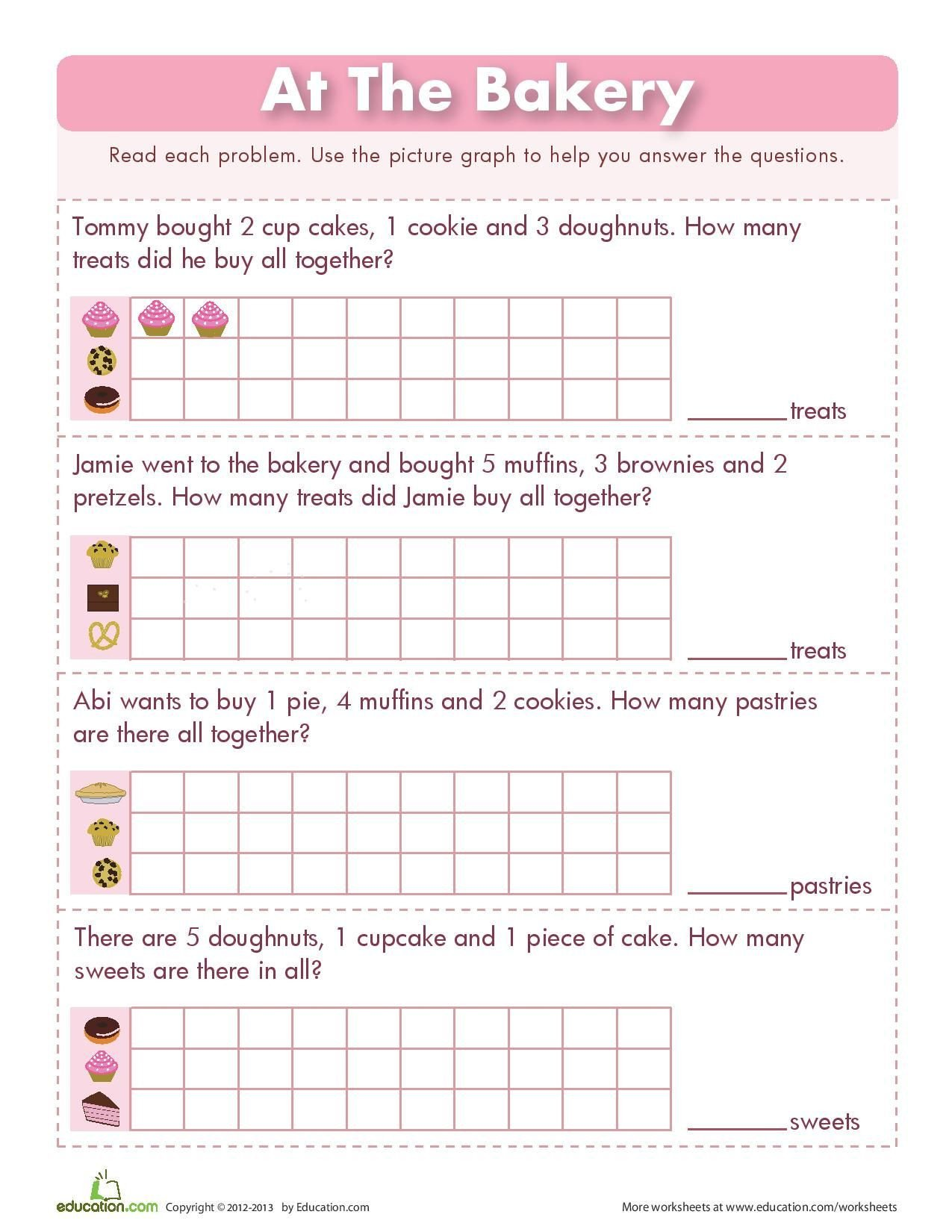 Graphing Worksheets for First Grade Picture Graphs Read Each Problem Use the Picture Graph to