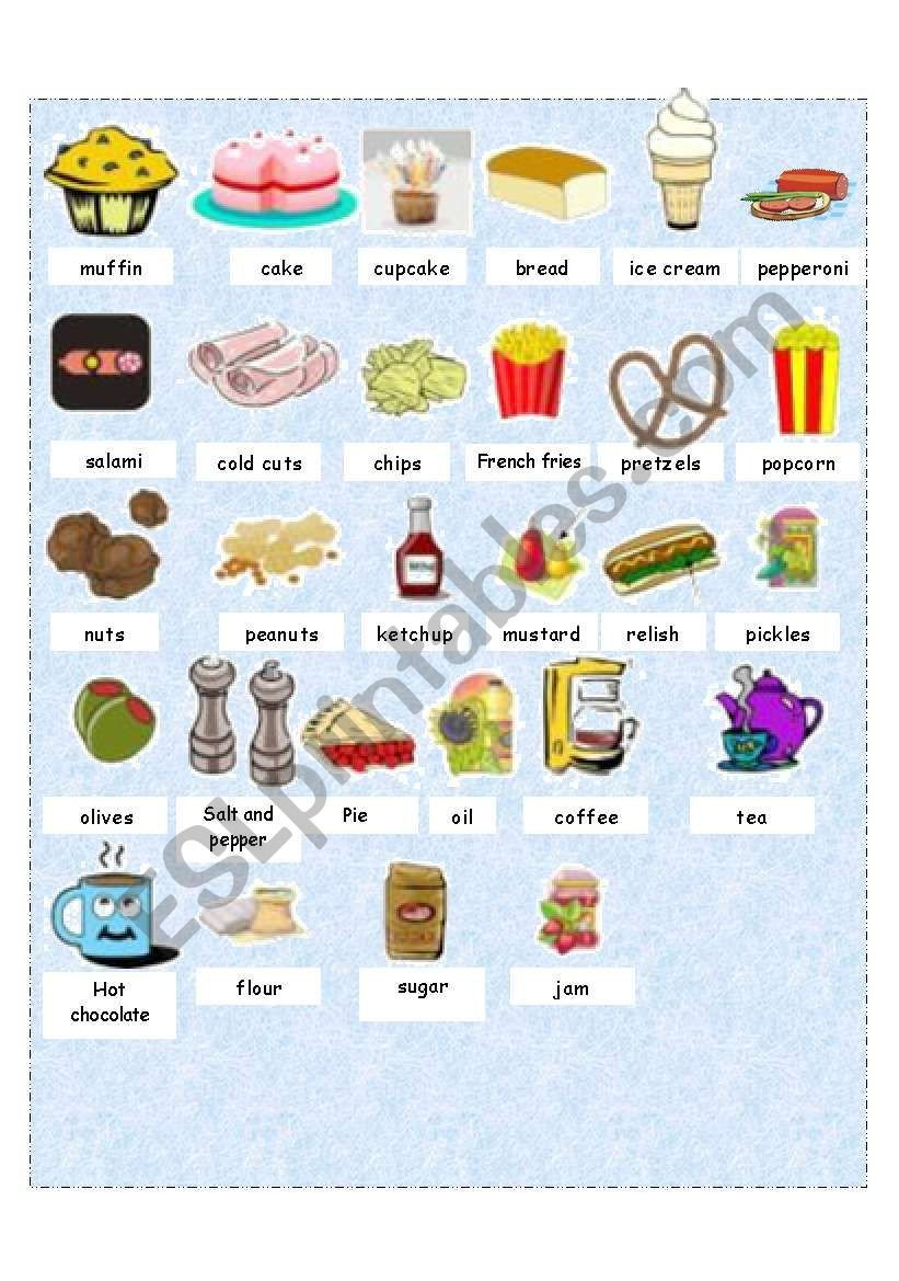 Grocery Shopping Worksheets Grocery Store Esl Worksheet by Manonski F