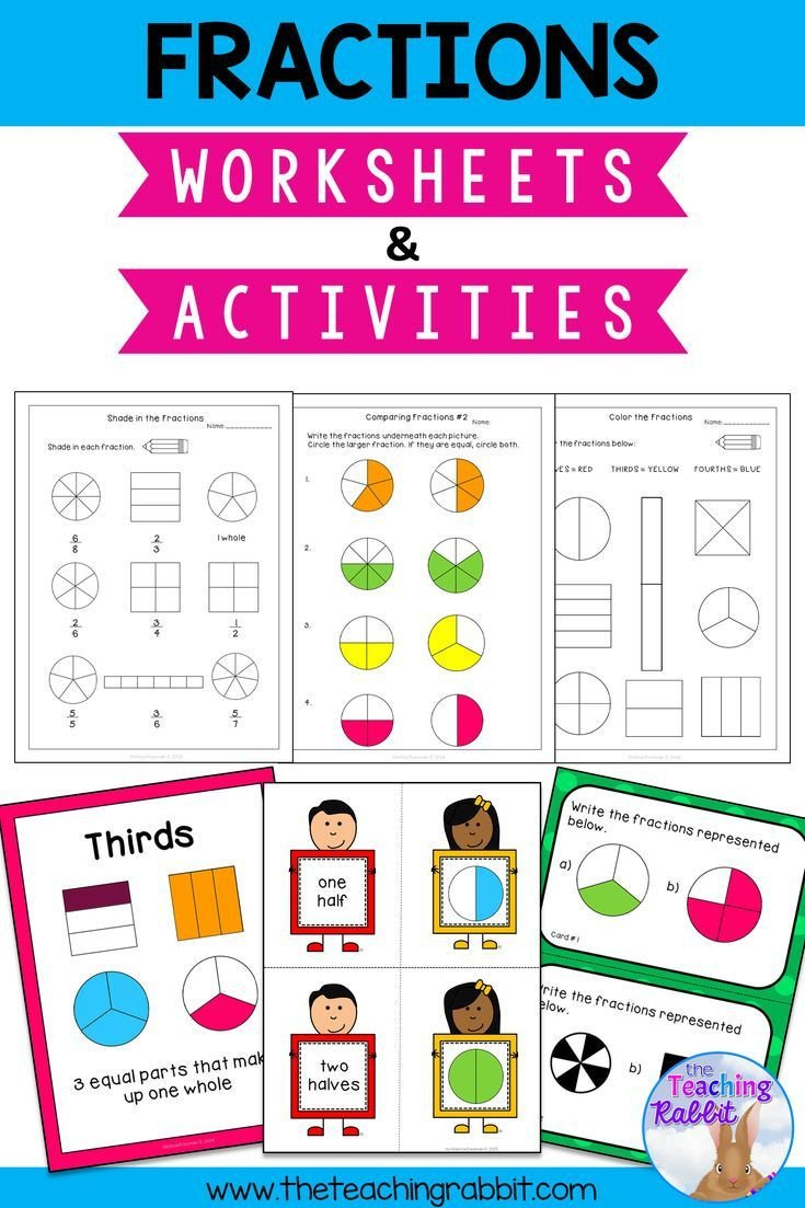 Halves Thirds Fourths Worksheets Fractions Worksheets & Activities In 2020