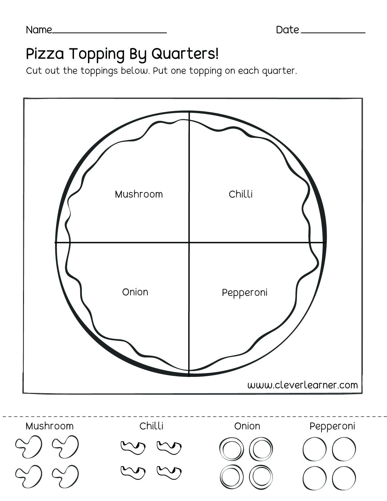 Halves Thirds Fourths Worksheets Fun Activity On Fractions Fourths Worksheets for Children