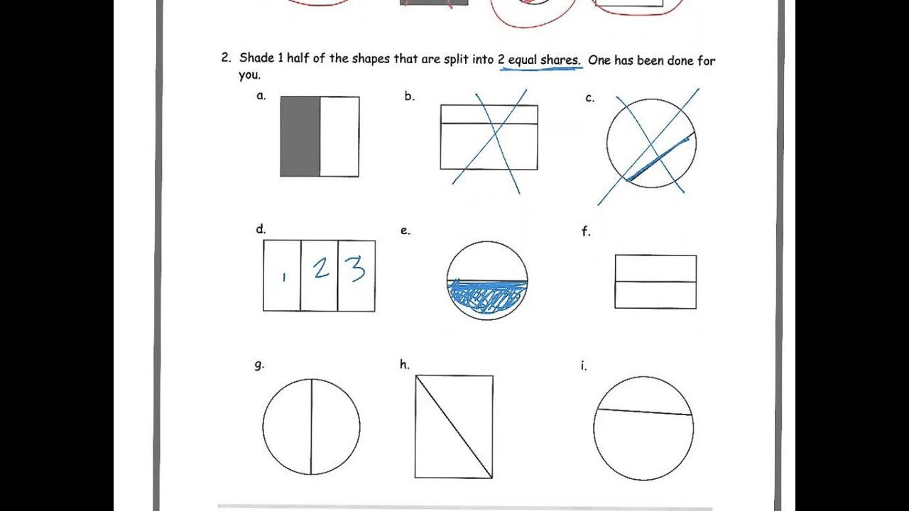 Halves Thirds Fourths Worksheets Halves Thirds or Fourths solutions Examples Worksheets