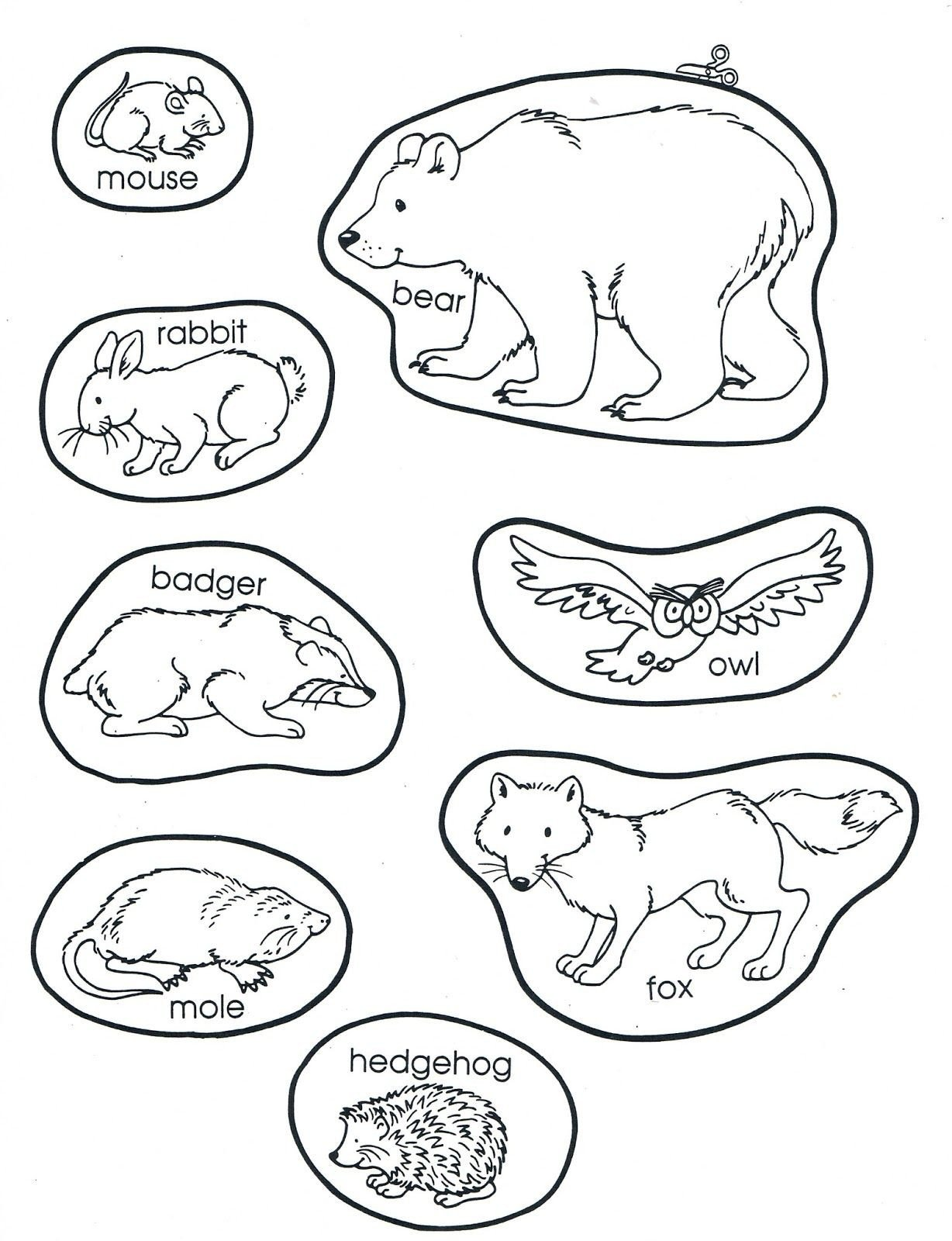 Hibernation Worksheet for Preschool the Mitten Animals Preschool Books Winter Kindergarten