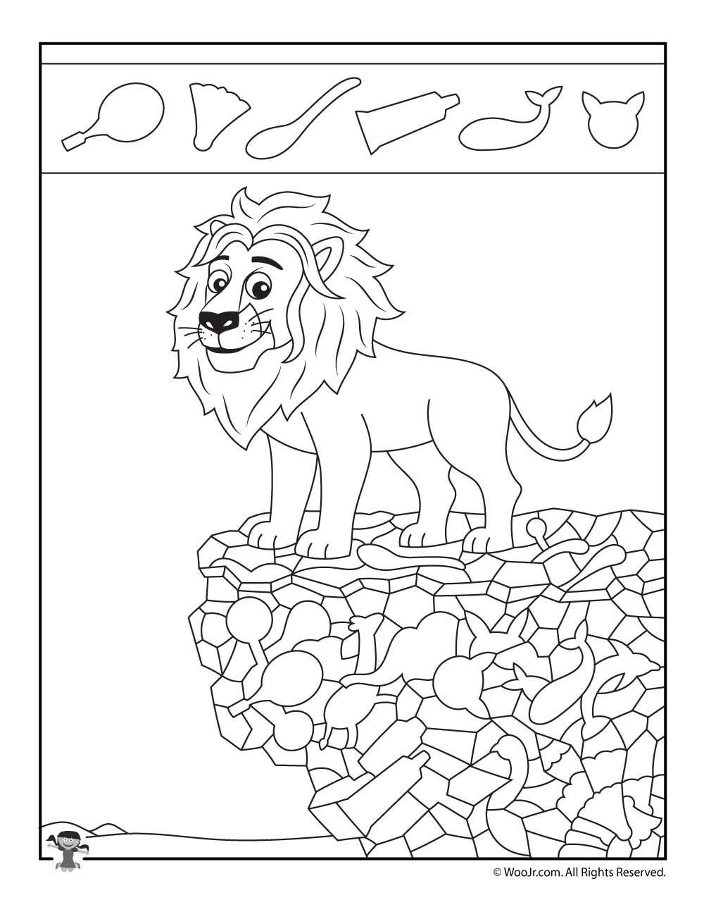 Hidden Animal Pictures Worksheets Easy Hidden with Animals Printable Activity Pages