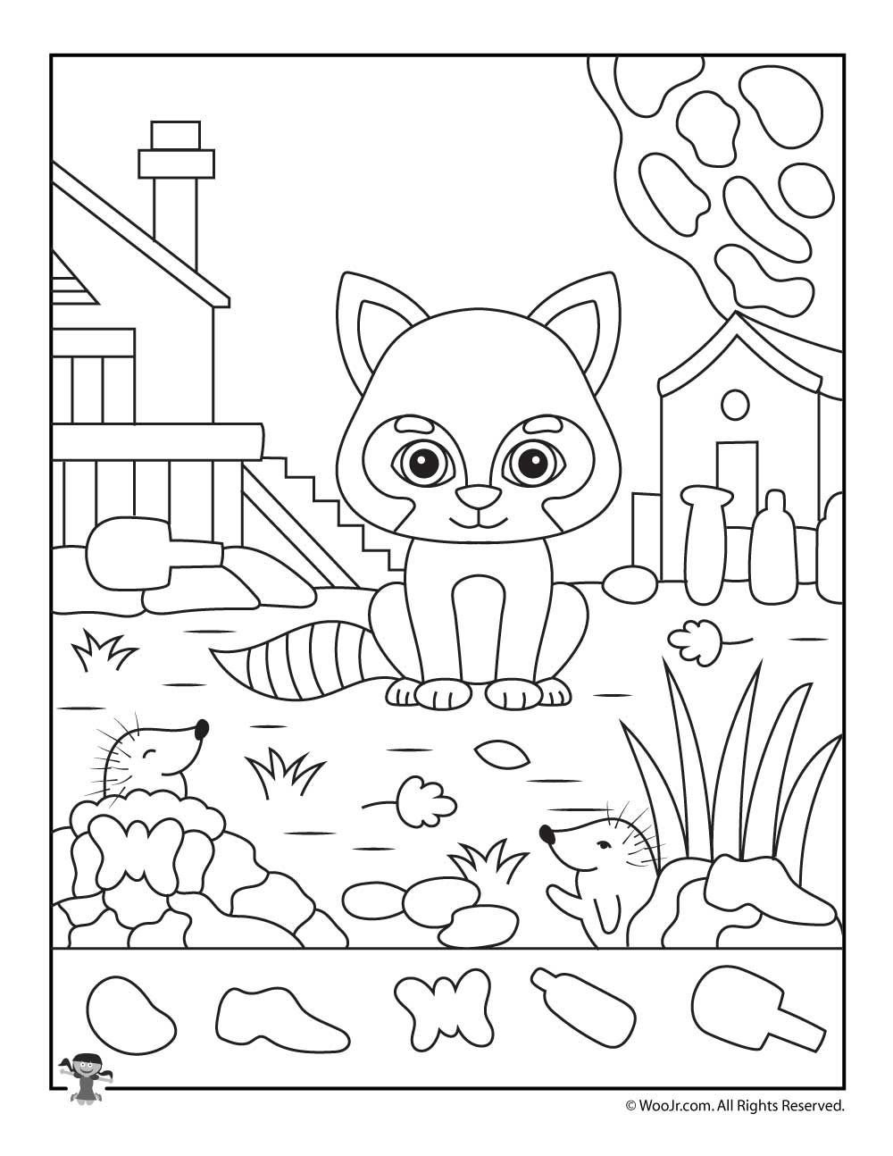 Hidden Animal Pictures Worksheets Fall Animals I Spy Worksheet
