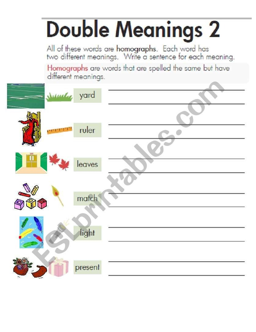 Homographs Worksheets Pdf English Worksheets Homographs