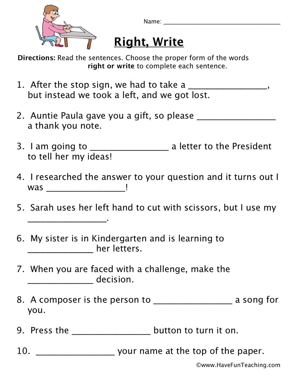 Homophones Worksheet High School Right Write Homophones Worksheet Have Fun Teaching English