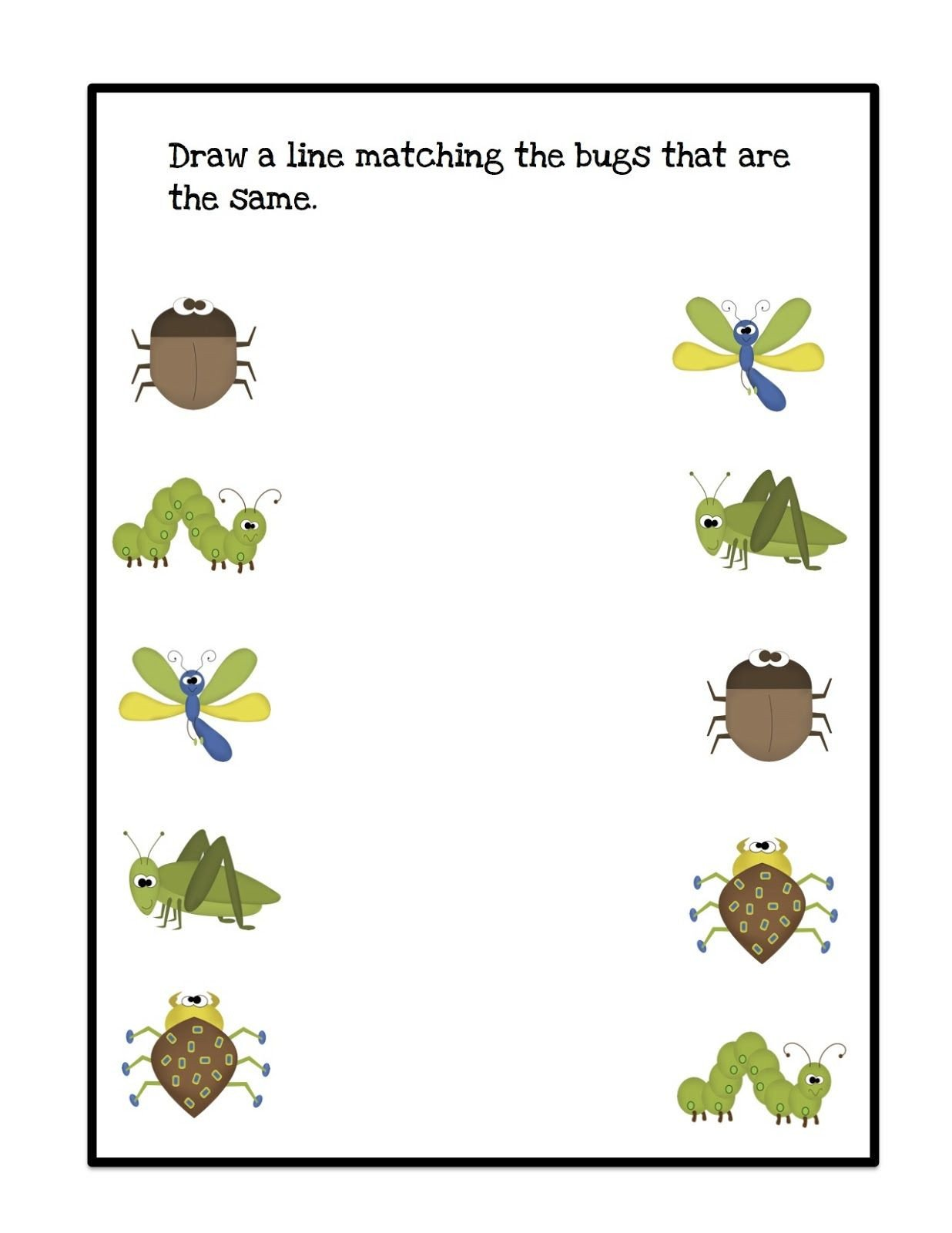 Insect Worksheets for Preschoolers Bugs Draw Lines 1 236—1 600 Pixels