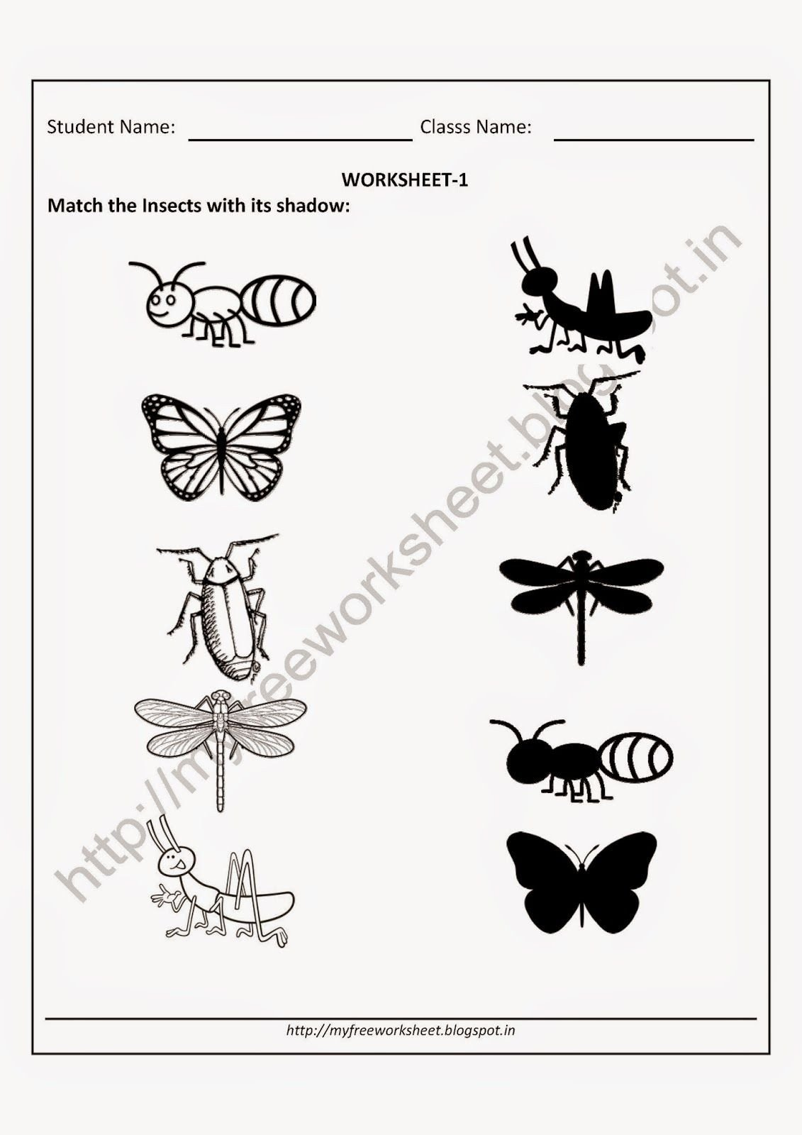 Insect Worksheets for Preschoolers Count Insects Worksheet