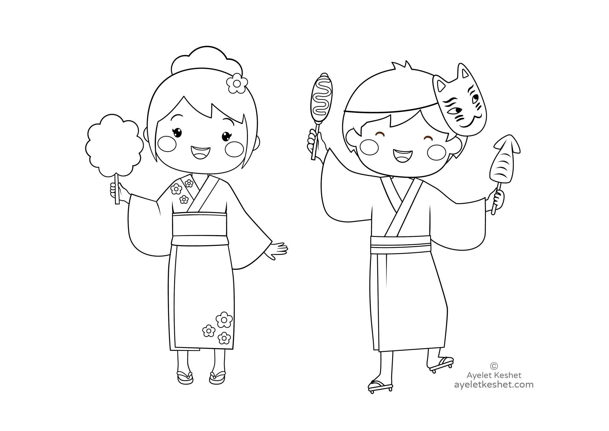 Japanese for Kids Worksheets Free Coloring Pages About Japan for Kids Ayelet Keshet