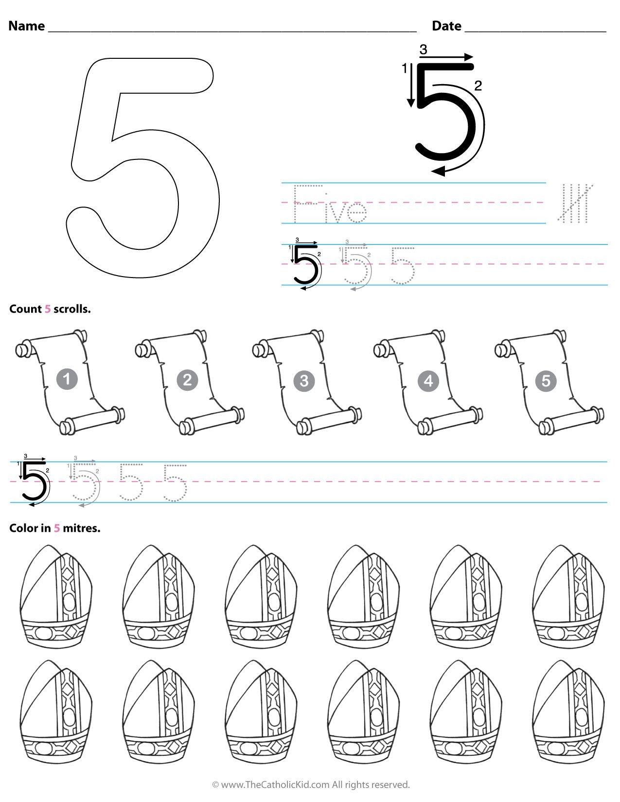 Kindergarten Number Line Worksheet Worksheets Roman Catholic Kindergarten Worksheet Printable