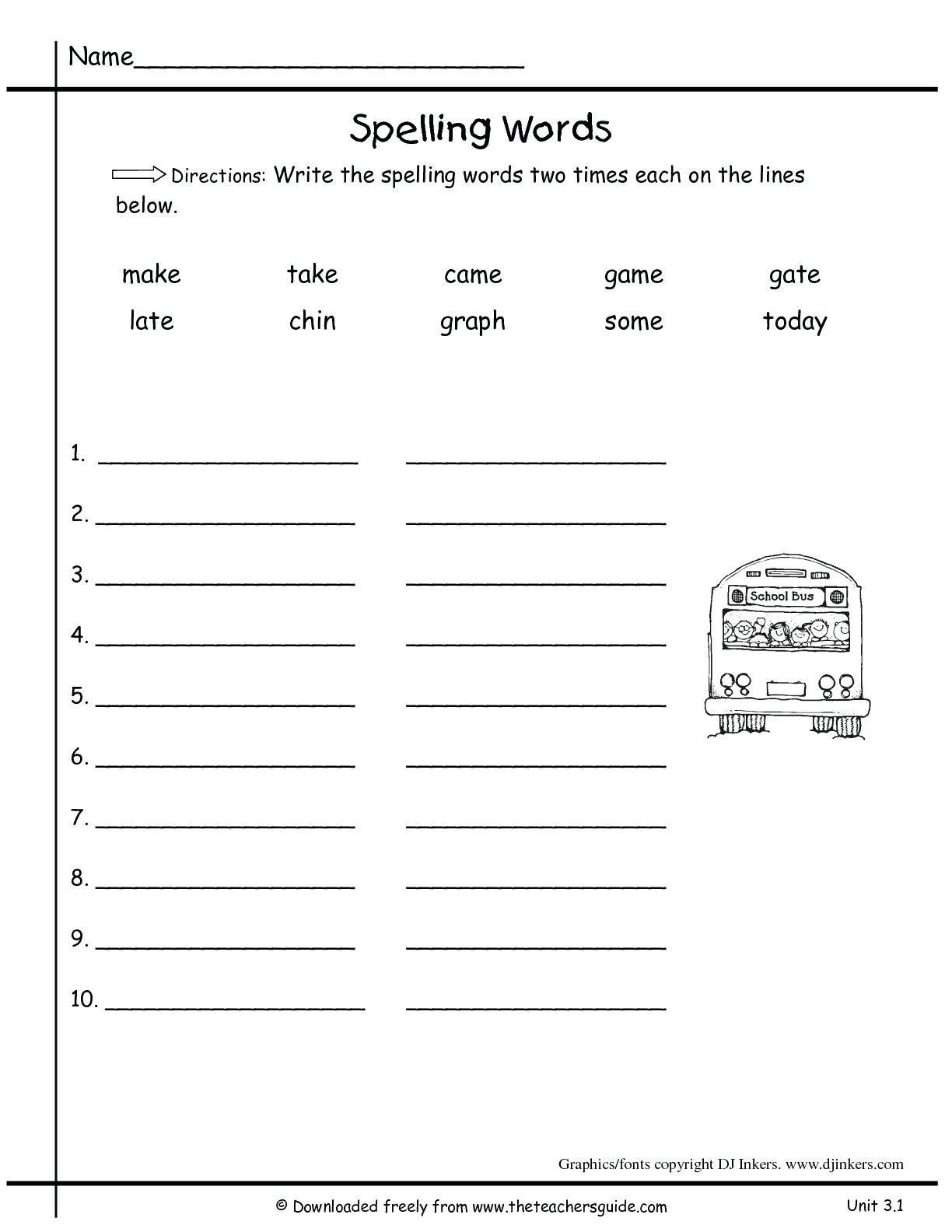 Kindergarten Spelling Worksheets Pin On Printable Worksheet for Kindergarten