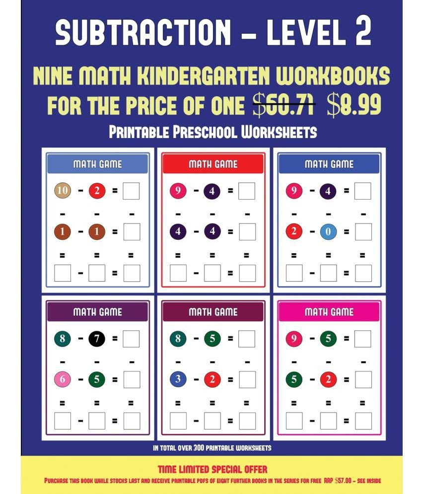 Kindergarten Subtraction Worksheets Free Printable Math Worksheet Math Worksheet Reading Activities for