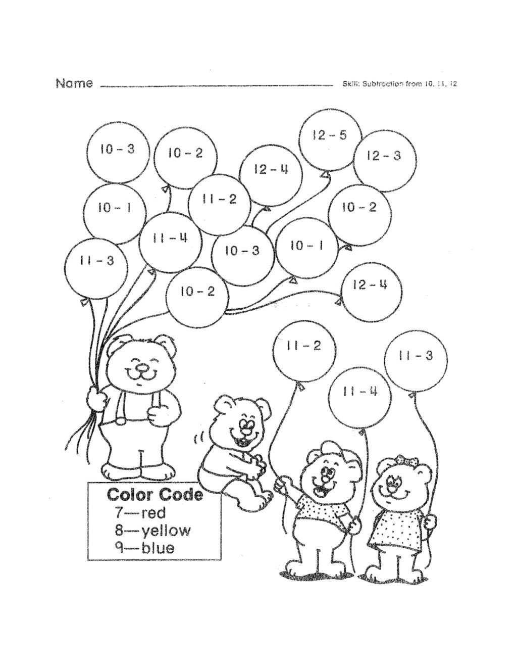 Kindergarten Subtraction Worksheets Free Printable Math Worksheet Preschool Testts Kids Kindergarten Jk