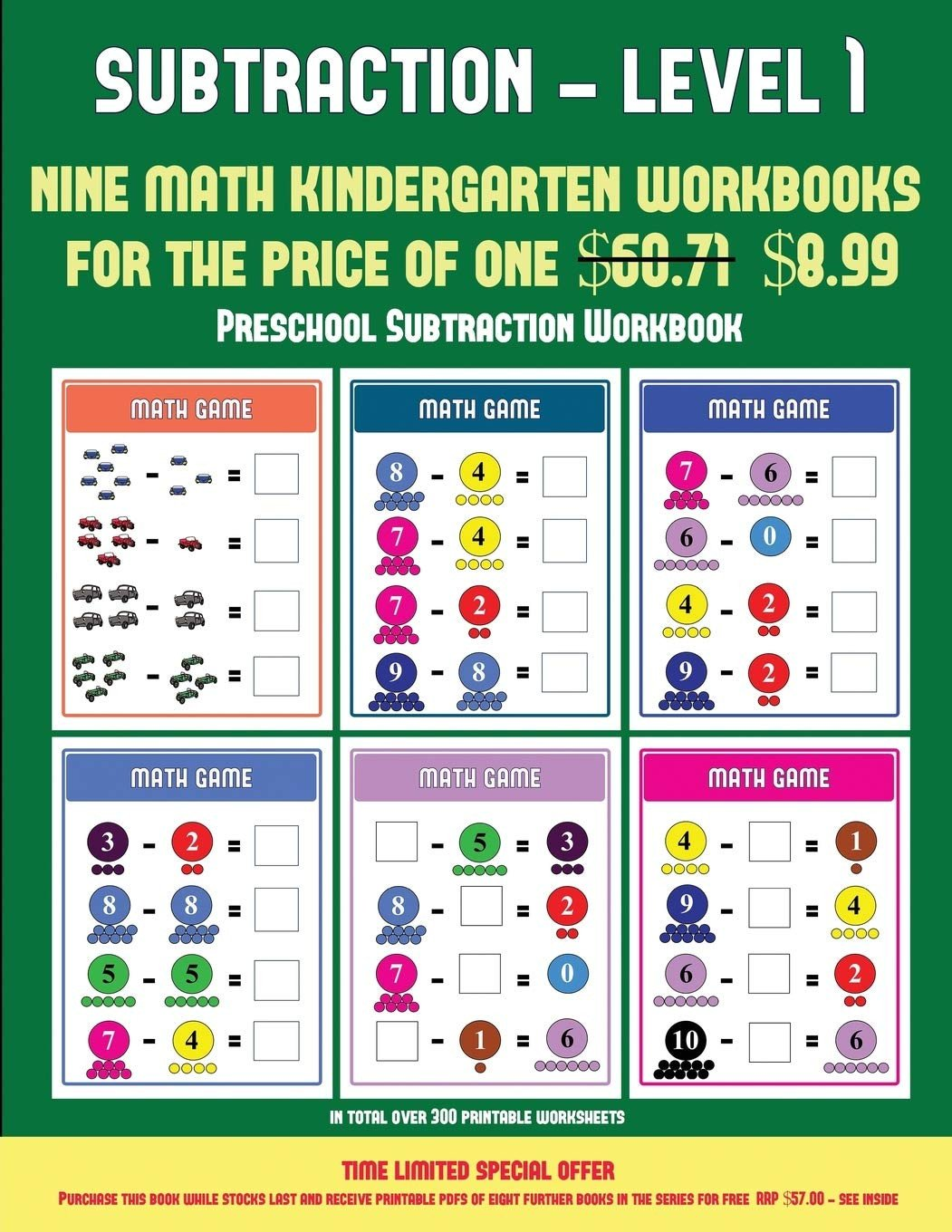 Kindergarten Subtraction Worksheets Free Printable Preschool Subtraction Workbook Kindergarten Subtraction