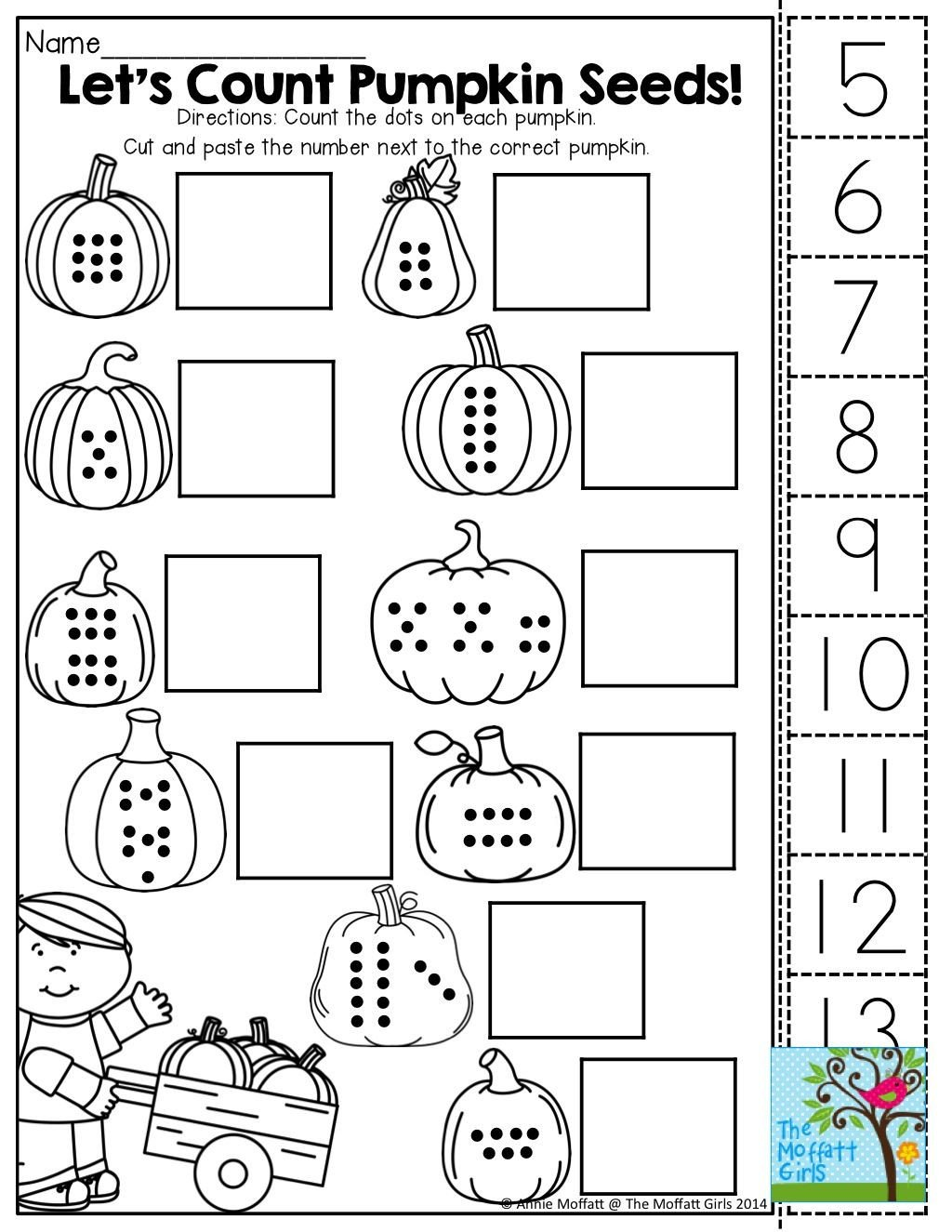 Kindergarten Worksheets Cut and Paste Pin On October