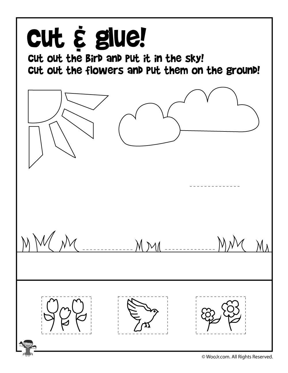 Kindergarten Worksheets Cut and Paste Pin On Teacher Worksheets