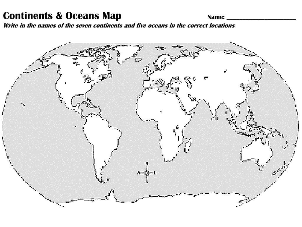 Label Continents and Oceans Worksheets 32 Label the Continents and Oceans Worksheet Labels