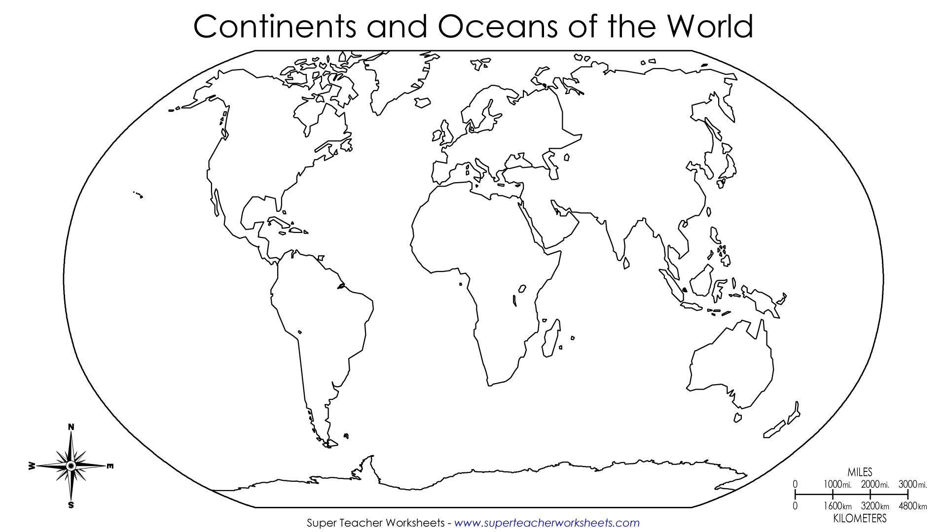 Label Continents and Oceans Worksheets World Map Continents Pdf Map Drawing for Kids Outline Map