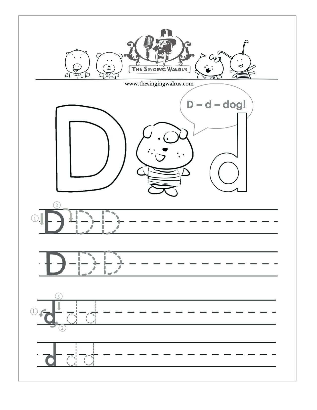 Letter D Worksheet Preschool Letter D Worksheets for Free Download Letter D Worksheets