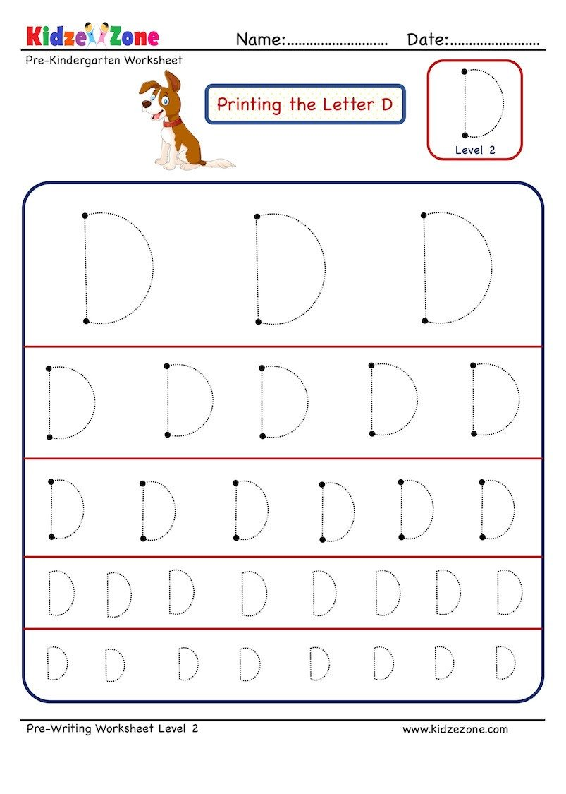 Letter D Worksheet Preschool Preschool Letter Tracing Worksheet Letter D Different