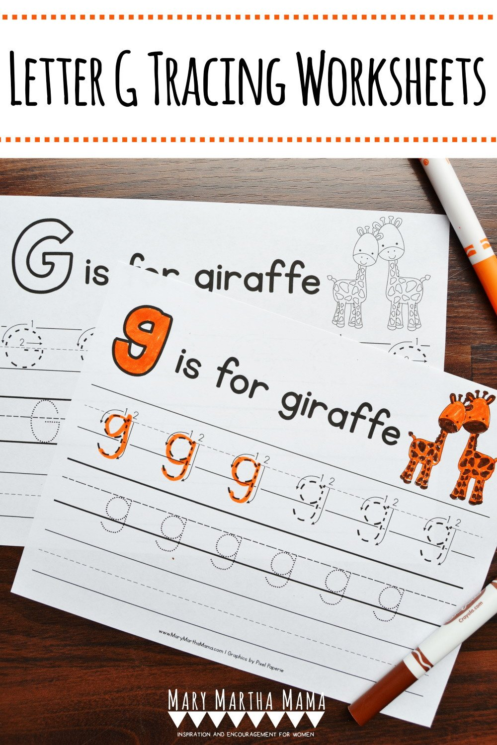 Letter G Tracing Worksheet Letter G Tracing Worksheets – Mary Martha Mama