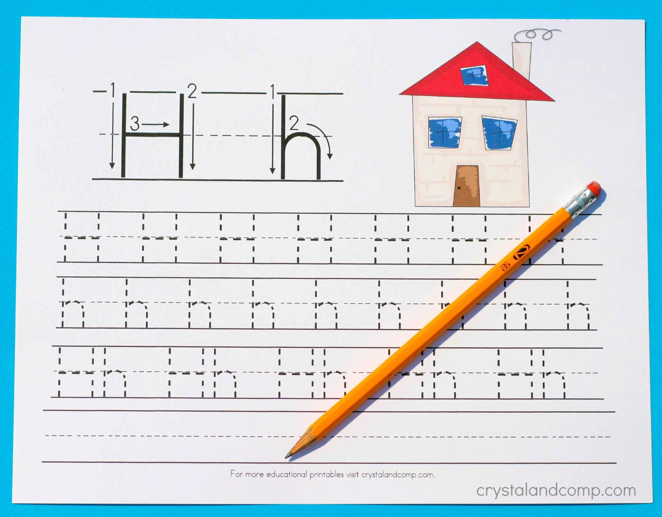 Letter H Traceable Worksheets Handwriting Practice for Preschool Letter H