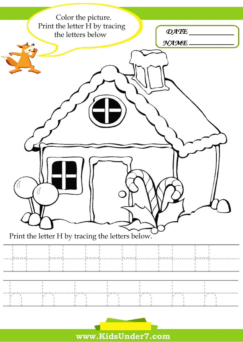 Letter H Tracing Worksheets Preschool Kids Under 7 Alphabet Worksheets Trace and Print Letter H
